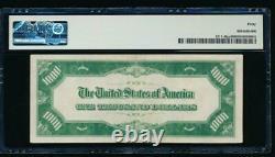 Ac 1934 1000 $ Kansas City Lgs Joint Vert Clair Une Mille Dollar Bill Pmg 40
