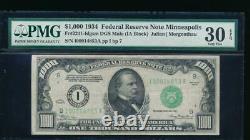 Ac 1934 1000 $ Minneapolis Une Mille Dollar Bill Pmg 30 Epq