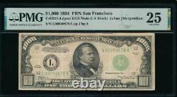 Ac 1934 1000 $ San Francisco Lgs One MILL Dollar Bill Pmg 25 Commentaires