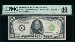 Ac 1934 1000 $ San Francisco Lgs One MILL Dollar Bill Pmg 40