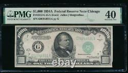 Ac 1934a 1000 $ Chicago One MILL Dollar Bill Pmg 40 Commentaire