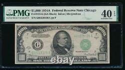 Ac 1934a 1000 $ Chicago One MILL Dollar Bill Pmg 40 Epq