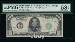 Ac 1934a 1000 $ Chicago One MILL Dollar Bill Pmg 58 Epq