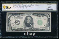 Ac 1934a 1000 $ Chicago One Milland Dollar Bill Pcgs 30