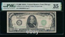 Ac 1934a 1000 $ Chicago Un Millier Dollar Pmg 35