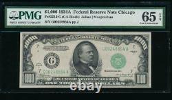 Ac 1934a 1000 $ Chicago Une Mille Dollar Bill Pmg 65 Epq Gem Non Circulé