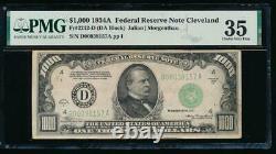 Ac 1934a 1000 $ Cleveland Un Milland Dollar Bill Pmg 35 Commentaire