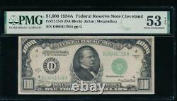 Ac 1934a 1000 $ Cleveland Un Millier Dollar Pmg 53 Epq