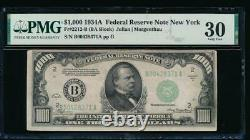 Ac 1934a 1000 $ New York One MILL Dollar Bill Pmg 30 Commentaire