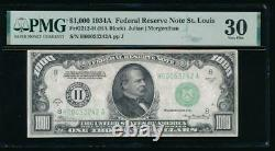 Ac 1934a 1000 $ Saint Louis One MILL Dollar Bill Pmg 30 Commentaires