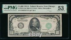 Ac 1934a 1 000 $ Chicago Une Mille Dollar Bill Pmg 53