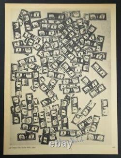 Andy Warhol, Special Print Many One Dollar Bills, De Vip Book De 1969. Ha