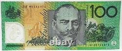 Australie En 1998. 100 $. Billet De Cent Dollars. Dernier Préfixe. Cf 98 Rare