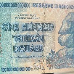 Banknote Zimbabwe Cent Millions De Dollars. Unc. Pristine. Individuel. (x1)