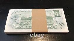 Canada 1973 Un Bloc De Billets De Banque De 1 $ De 100 $