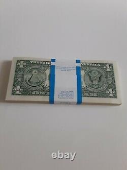 Chicago Frn Full Stack (100 Bills) $1 One Dollar Bill Series 2017a Rare J5