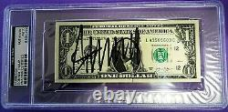 Donald Trump Hand Signed Crisp One Dollar ($1.00) Bill- Psa/dna Authentifié