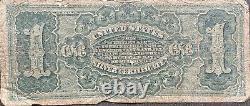États-unis 1886 Billet 1 Dollar Certificat En Argent De Grande Taille Schein Us One #22074