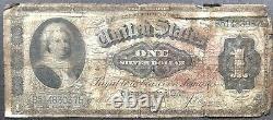 Etats-unis 1886 Billet De Banque 1 Dollar Grande Taille Silver Certificate Schein Us One #11887