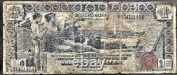 Etats-unis 1896 Billet De Banque 1 Dollar Grand Size Silver Certificate Schein Us One #19853
