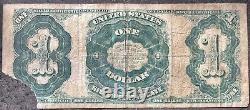 États-unis 1 Dollar 1891 Billet De Grande Taille Martha Washington Schein $1 One #15776