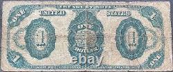 États-unis 1 Dollar 1891 Note De Banque Grande Taille Note De Trésor Américain Schein $1 One #25296