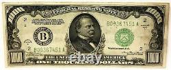États-unis Authentique $1,000 1934. Mille Dollars. Billet Rare. Grade Élevé