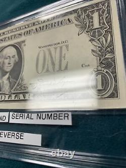 Extrêmement Rare 1981 Note D'un Dollar Avec Le Sceau Fédéral @ Numéro De Série À L'inverse