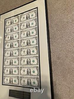 Feuille Non Découpée (16) 1 Dollar De Bons - 1981 Encadré - Billets En Devises Trésor Rare