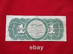 Fr-16c 1862 Series $1 One Dollar Us Legal Tender Note Chase Greenback F-vf