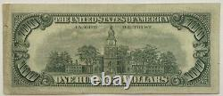 Nice 1966-a $100 One Hundred Dollar Sceau Rouge États-unis Note 1966 A Wow