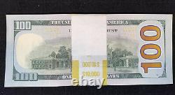 Non Circulé 100 Notes 2017 Cent Dollars Bills 100 $ Séquentiel #s 10 000 $