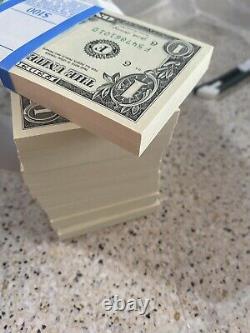 Non Circulé, Scellé, Coins Pointus, Billets D'un Dollar, Bep 100$ 1 Pack