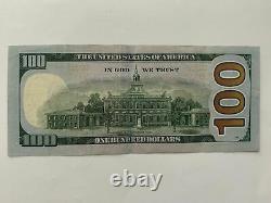Nous 100 Dollars Possible D'une Note D'erreur Aimable