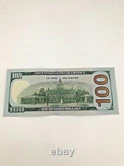 Nouveau Billet De 100 $ Non Circulé De Cent Dollars En Ordre Séquentiel Us Real Money