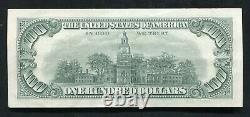 P. 1551 1966-a $100 One Hundred Dollars Legal Tender États-unis Note Au