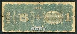 P. 18 1869 $1 One Dollar Rainbow Legal Tender États-unis Note