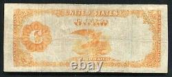 Père. 1215 1922 100 $ Certificat D'or D'une Centaine De Dollars Note De Devise Très Fine