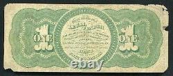 Père. 17 1862 $ 1 Dollar Appel D'offres Juridique États-unis Note B)