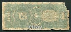 Père. 18 1869 $ 1 Dollar Rainbow Legal Tender États-unis Note