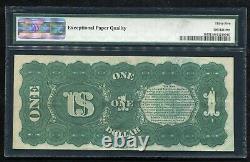 Père. 18 1869 $ 1 Dollar Rainbow Legal Tender États-unis Note Pmg Vf-35epq