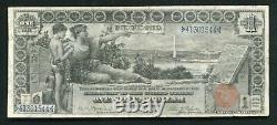 Père. 225 1896 $ 1 $ Certificat D'études En Argent Note De Devise Vf+