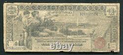 Père. 225 1896 $ 1 Dollar Certificat D'études En Argent Note De Devise (d)