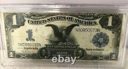 Père. 232 1899 $ 1 Dollar De Grande Taille Black Eagle Silver Certificate Note