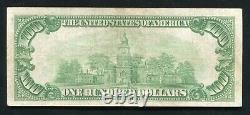 Père. 2405 1928 100 $ Certificat D'or D'une Centaine De Dollars Note De Devise Vf+ (c)
