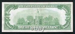 Père. 2405 1928 100 $ Un Cent Dollars De Certificat D'or Note Extrêmement Fine