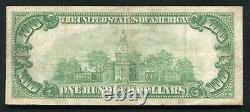 Père. 2405 1928 100 $ Un Cent Dollars De Certificat D'or Note Très Fine