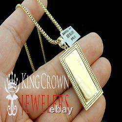 Real Diamond 10k Yellow Gold Finish One 100 Cent Dollar Bill Money Pendant