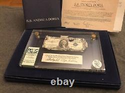 Ss Andrea Doria Shipwreck $1 Certificat D'argent D'un Dollar Us Note Pcgs C Grade