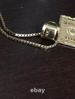 Supreme 100 Dollar Bill 14k Collier D'or Utilisé / Cent Benjamin Franklin